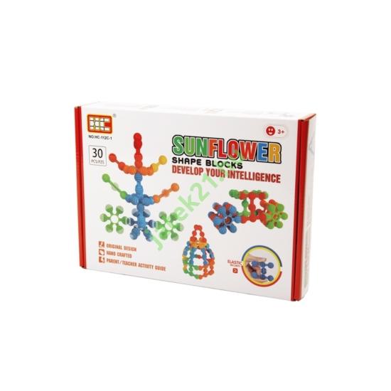 Napraforgó műanyag 30 darabos építőjáték - 319905293 -