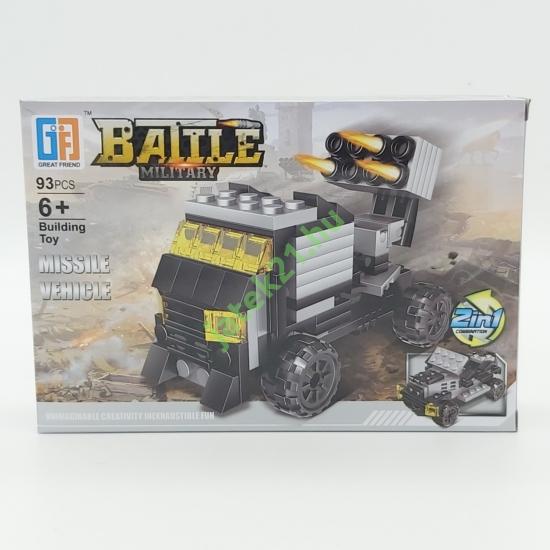 2in1 Építőjáték készlet - Missile Vehicle