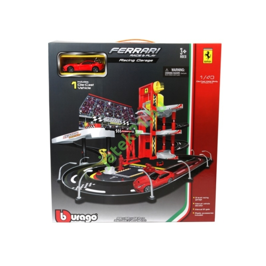Bburago_RJ 1/43 Ferrari Racing garázs 18-30196