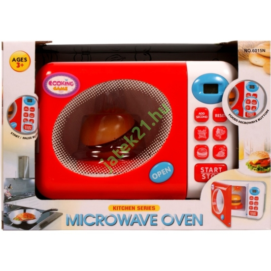 Elemes mikrohullámú sütő - fehér-piros