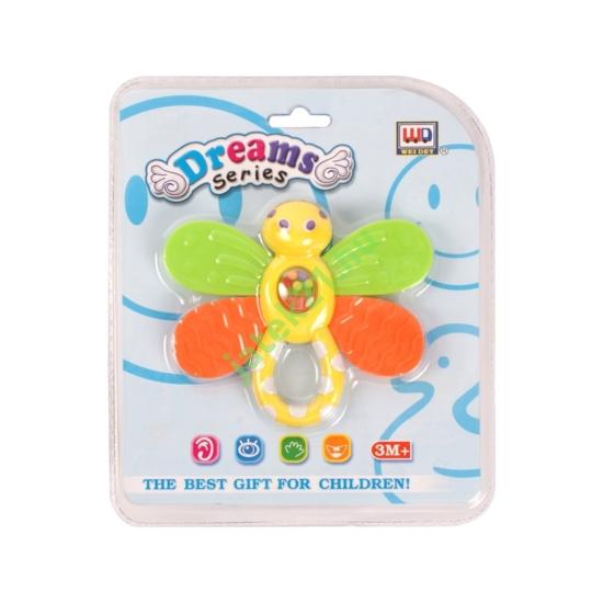 Műanyag pillangós csörgő - WD3313 -