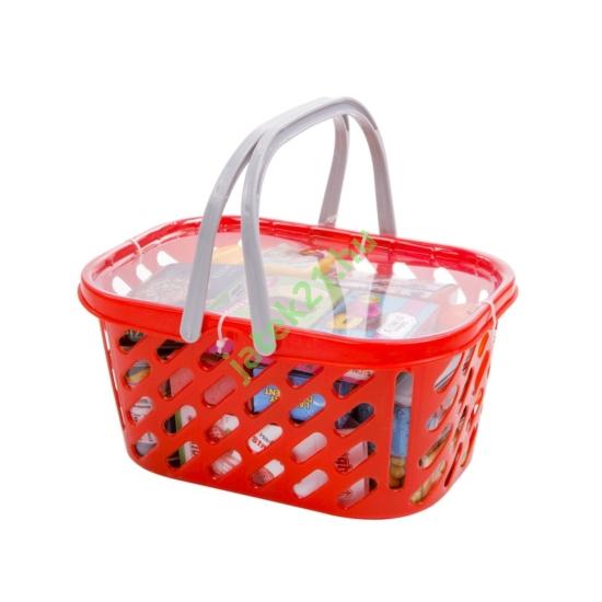 Bevásárlókosár játék élelmiszerekkel -27631-