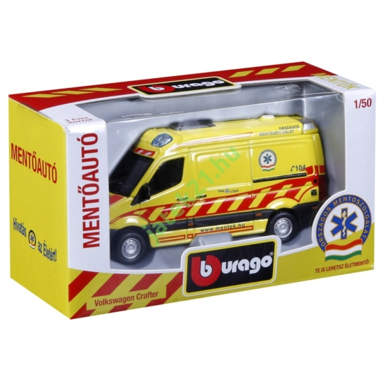 Bburago_RJ Magyar Mentőautó VW Crafter 1:50 - 18-320 -