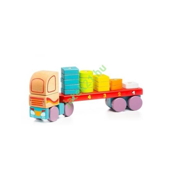 Fa kamion kockákkal
