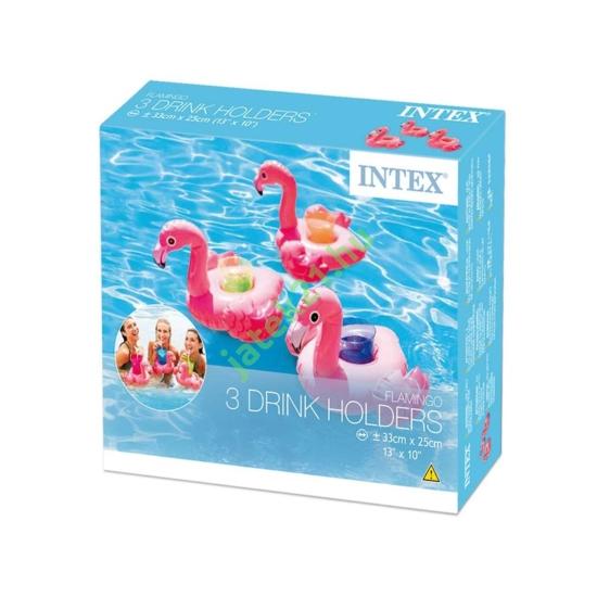 INTEX_RJ 57500 Flamingó pohártartó 3 db - 33 x 25 cm