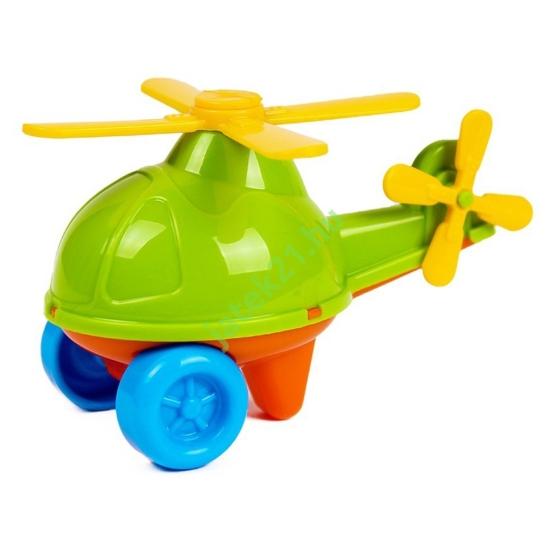 Műanyag helikopter - zöld, 11 cm