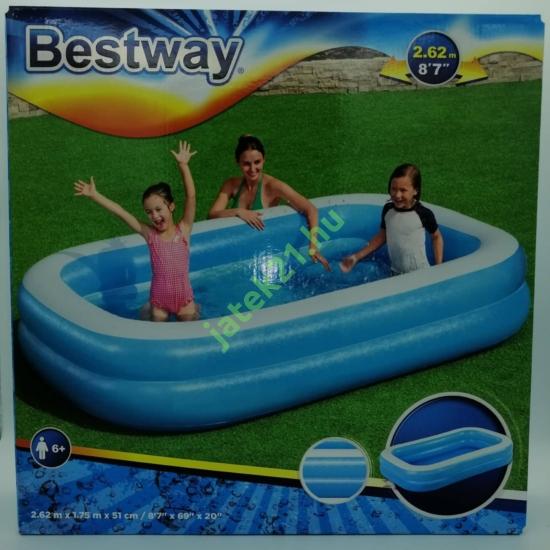 Bestway 54006 - Szögletes családi medence - 262 x 175 x 51 cm