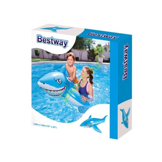 Bestway_RJ 41032 Fehér cápa lovagló - 185 x 102 cm