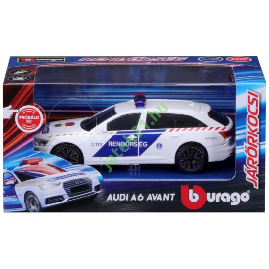 Bburago Audi A6 szirénázó magyar rendőrautó 1:43