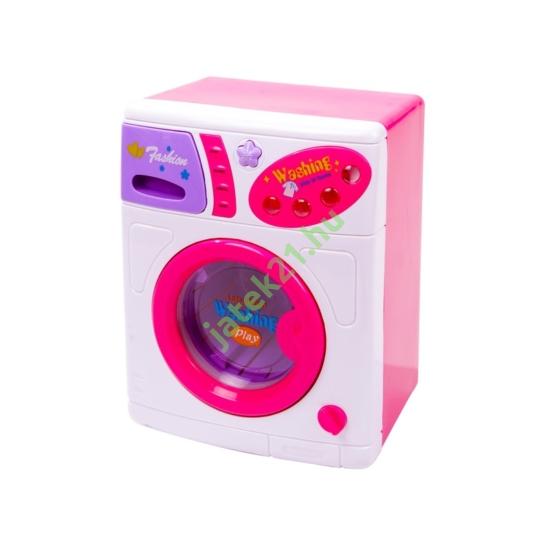Lila-fehér játék mosógép.
