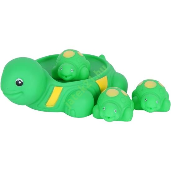 Műanyag fürdőjáték - teknős család
